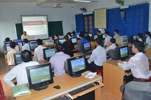 Toàn cảnh lớp tập huấn tại huyện Mộ Đức
